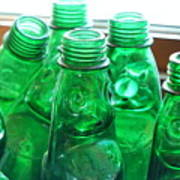 Vintage Lemonade Glass Bottles Poster