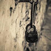 Vintage Lock Poster