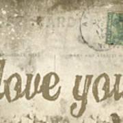 Vintage Love Letters Poster