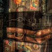 Vintage Luggage In Shop Window Poster