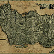 Vintage Map Of Ireland 1771 Poster