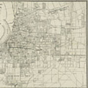 Vintage Map Of Memphis Tennessee - 1911 Poster
