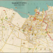 Vintage Map Of Tarrytown New York - 1893 Poster