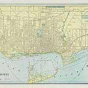 Vintage Map Of Toronto - 1901 Poster