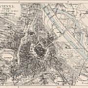 Vintage Map Of Vienna Austria - 1906 Poster