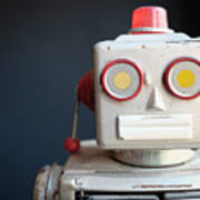 Vintage Mechanical Robot Toy Poster