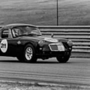 Vintage Mg On Track Poster
