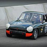 Vintage Mg Race Car Poster