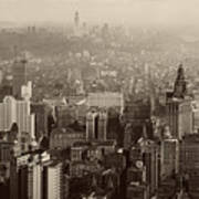 Vintage New York City Panorama Poster