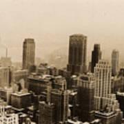 Vintage New York City Skyline Photograph - 1935 Poster
