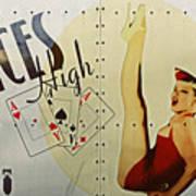 Vintage Nose Art Aces High Poster