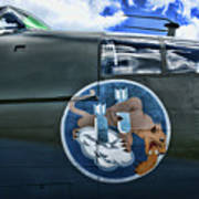 Vintage Nose Art B-25j Mitchell Poster