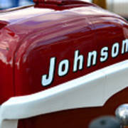 Vintage Johnson Outboard Red  Poster
