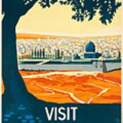 Vintage Palestine Travel Poster Poster