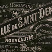 Vintage Paris Sign Poster