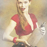 Vintage Perfume Advertisement Circa 2015 Poster