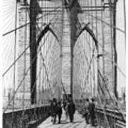 Vintage Photo Brooklyn Bridge Poster