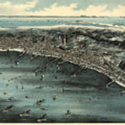 Vintage Pictorial Map Of Provincetown - 1910 Poster
