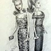 Vintage Ponytail Barbie Poster
