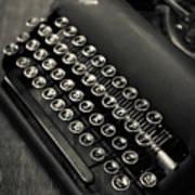 Vintage Portable Typewriter Poster