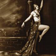 Vintage Poster Posing Dancer In Costume Poster
