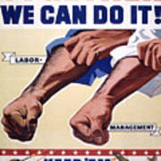 Vintage Poster - Together We Can Do It Poster