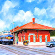 Echoes Of Railroads Past - Central Of Georgia Depot Poster