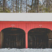 Vintage Red Carriage Barn Lyme Poster