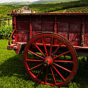 Vintage Red Wagon 2 Poster