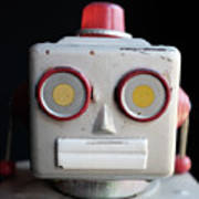 Vintage Robot Square Poster
