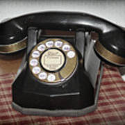 Vintage Rotary Phone Poster
