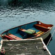 Vintage Rowboat Poster