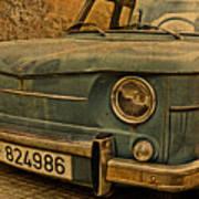 Vintage Rusty Renault Truck Poster