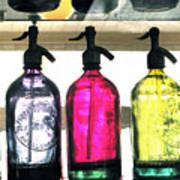 Vintage Seltzer Bottles 2 Poster
