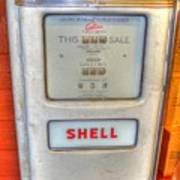 Vintage Shell Gas Pump Poster
