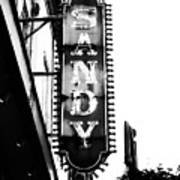 Vintage Sign In Mono Poster