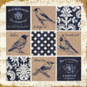 Vintage Songbirds Patch Poster