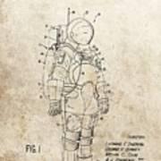 Vintage Space Suit Patent Poster