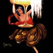 Vintage Sparkling Wine Advertisement Poster