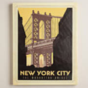 Vintage-style New York City Poster Poster
