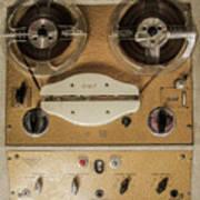 Vintage Tape Sound Recorder Reel To Reel Poster