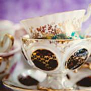 Vintage Teacups Poster
