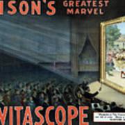 Vintage Thomas Edison Print - The Vitascope Poster