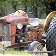 Vintage Tractor In Color Poster