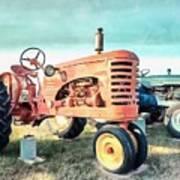 Vintage Tractors Acrylic Poster
