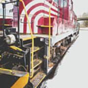 Vintage Train Locomotive Poster
