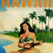 Vintage Travel Hawaii Poster
