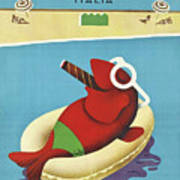 Vintage Travel Poster Italy Poster