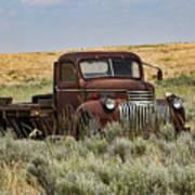 Vintage Truck In Field Poster