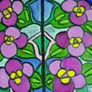 Vintage Violets Poster